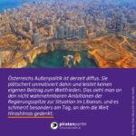 Am Libanon zeigt sich die Ambitionslosigkeit der österreichischen Außenpolitik