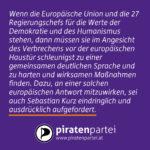 Europäische Werte und so …